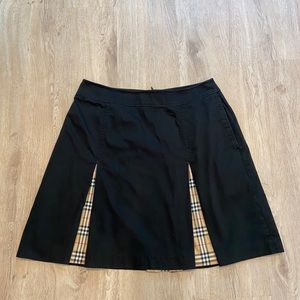 Burberry Gold Black Pleated Skirt size 8